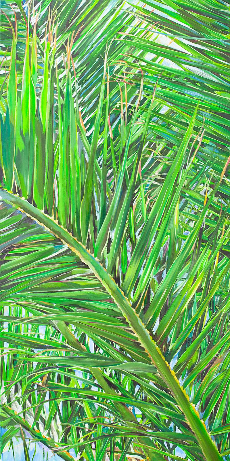 Palmenblaetter-Leinwand-70x140